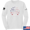 IV8888 Three Percenter Long Sleeve T-Shirt Long Sleeve Small / White by Ballistic Ink - Made in America USA