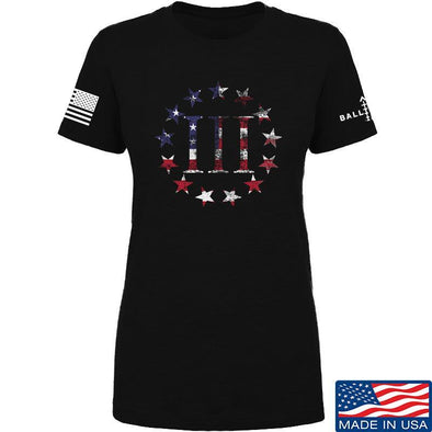 IV8888 Ladies Three Percenter T-Shirt T-Shirts SMALL / Black by Ballistic Ink - Made in America USA