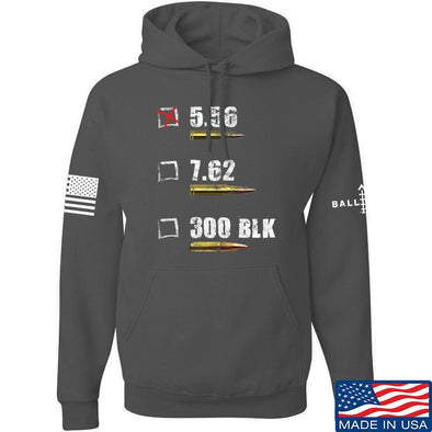 IV8888 5.56 Hoodie Hoodies Small / Charcoal by Ballistic Ink - Made in America USA