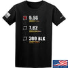 IV8888 5.56 T-Shirt T-Shirts Small / Black by Ballistic Ink - Made in America USA