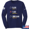 IV8888 7.62 Long Sleeve T-Shirt Long Sleeve Small / Navy by Ballistic Ink - Made in America USA