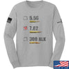 IV8888 7.62 Long Sleeve T-Shirt Long Sleeve Small / Light Grey by Ballistic Ink - Made in America USA