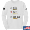 IV8888 7.62 Long Sleeve T-Shirt Long Sleeve Small / White by Ballistic Ink - Made in America USA