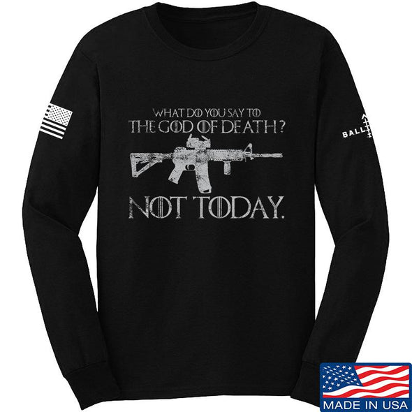 IV8888 AR15 Not Today Long Sleeve T-Shirt Long Sleeve Small / Black by Ballistic Ink - Made in America USA