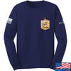 IV8888 AnTiFreedom (false) Pocket Long Sleeve T-Shirt Long Sleeve Small / Navy by Ballistic Ink - Made in America USA
