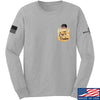 IV8888 AnTiFreedom (false) Pocket Long Sleeve T-Shirt Long Sleeve Small / Light Grey by Ballistic Ink - Made in America USA