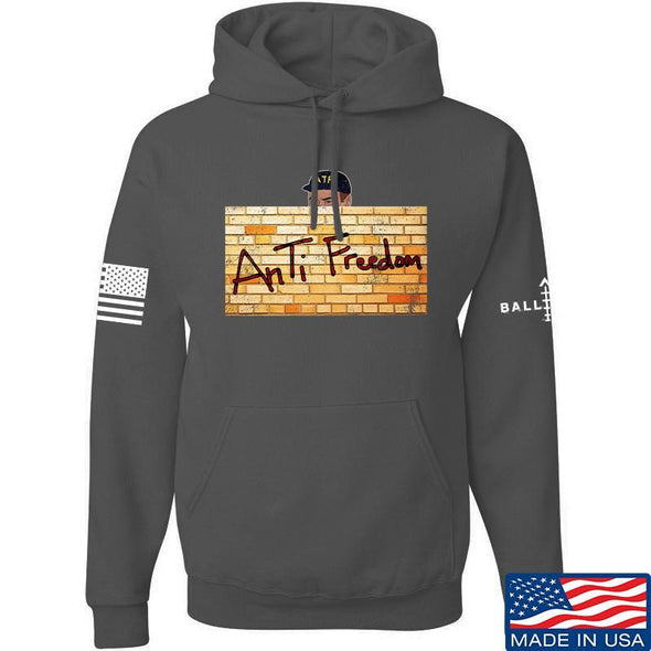 IV8888 ATF (AnTiFreedom) Hoodie Hoodies Small / Charcoal by Ballistic Ink - Made in America USA