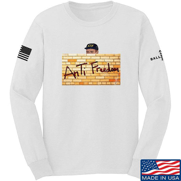 IV8888 ATF (AnTiFreedom) Long Sleeve T-Shirt Long Sleeve Small / White by Ballistic Ink - Made in America USA