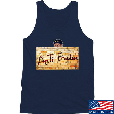 IV8888 ATF (AnTiFreedom) Tank Tanks SMALL / Navy by Ballistic Ink - Made in America USA