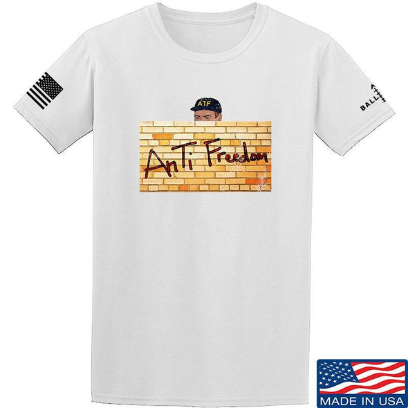 IV8888 ATF (AnTiFreedom) T-Shirt T-Shirts Small / White by Ballistic Ink - Made in America USA