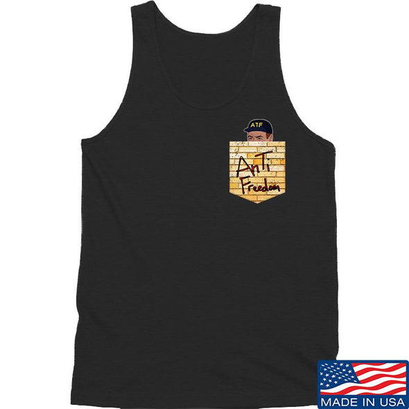 IV8888 AnTiFreedom (false) Pocket Tank Tanks SMALL / Black by Ballistic Ink - Made in America USA