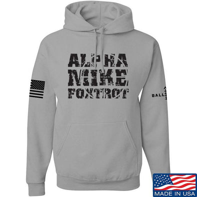 IV8888 Alpha Mike Foxtrot Hoodie Hoodies Small / Light Grey by Ballistic Ink - Made in America USA