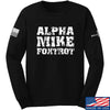 IV8888 Alpha Mike Foxtrot Long Sleeve T-Shirt Long Sleeve Small / Black by Ballistic Ink - Made in America USA