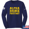 IV8888 Alpha Mike Foxtrot Long Sleeve T-Shirt Long Sleeve Small / Navy by Ballistic Ink - Made in America USA