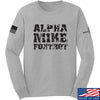IV8888 Alpha Mike Foxtrot Long Sleeve T-Shirt Long Sleeve Small / Light Grey by Ballistic Ink - Made in America USA