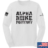 IV8888 Alpha Mike Foxtrot Long Sleeve T-Shirt Long Sleeve Small / White by Ballistic Ink - Made in America USA