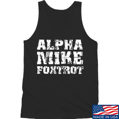IV8888 Alpha Mike Foxtrot Tank Tanks SMALL / Black by Ballistic Ink - Made in America USA
