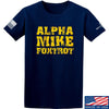 IV8888 Alpha Mike Foxtrot T-Shirt T-Shirts Small / Navy by Ballistic Ink - Made in America USA