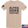 IV8888 Alpha Mike Foxtrot T-Shirt T-Shirts Small / Sand by Ballistic Ink - Made in America USA