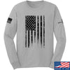 IV8888 Distressed Black Flag Long Sleeve T-Shirt Long Sleeve Small / Light Grey by Ballistic Ink - Made in America USA