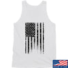 IV8888 Distressed Black Flag Tank Tanks SMALL / White by Ballistic Ink - Made in America USA