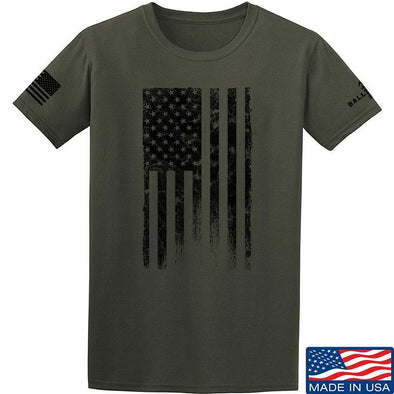 IV8888 Distressed Black Flag T-Shirt T-Shirts Small / Military Green by Ballistic Ink - Made in America USA