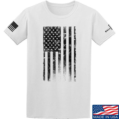 IV8888 Distressed Black Flag T-Shirt T-Shirts Small / White by Ballistic Ink - Made in America USA