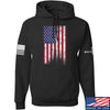 IV8888 Distressed Flag Hoodie Hoodies Small / Black by Ballistic Ink - Made in America USA