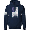 IV8888 Distressed Flag Hoodie Hoodies Small / Navy by Ballistic Ink - Made in America USA