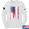 IV8888 Distressed Flag Long Sleeve T-Shirt Long Sleeve Small / White by Ballistic Ink - Made in America USA