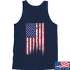 IV8888 Distressed Flag Tank Tanks SMALL / Navy by Ballistic Ink - Made in America USA