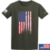 IV8888 Distressed Flag T-Shirt T-Shirts Small / Military Green by Ballistic Ink - Made in America USA