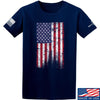 IV8888 Distressed Flag T-Shirt T-Shirts Small / Navy by Ballistic Ink - Made in America USA