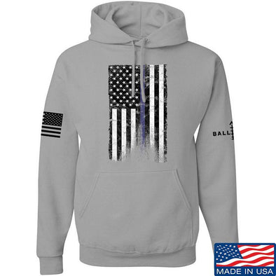 IV8888 Thin Blue Line Hoodie Hoodies Small / Light Grey by Ballistic Ink - Made in America USA