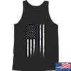 IV8888 Thin Blue Line Tank Tanks SMALL / Black by Ballistic Ink - Made in America USA