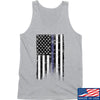 IV8888 Thin Blue Line Tank Tanks SMALL / Light Grey by Ballistic Ink - Made in America USA