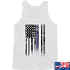 IV8888 Thin Blue Line Tank Tanks SMALL / White by Ballistic Ink - Made in America USA