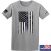IV8888 Thin Blue Line T-Shirt T-Shirts Small / Light Grey by Ballistic Ink - Made in America USA