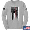 IV8888 Thin Red Line Long Sleeve T-Shirt Long Sleeve Small / Light Grey by Ballistic Ink - Made in America USA