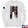 IV8888 Thin Red Line Long Sleeve T-Shirt Long Sleeve Small / White by Ballistic Ink - Made in America USA