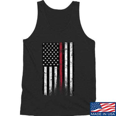 IV8888 Thin Red Line Tank Tanks SMALL / Black by Ballistic Ink - Made in America USA