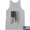 IV8888 Thin Red Line Tank Tanks SMALL / Light Grey by Ballistic Ink - Made in America USA
