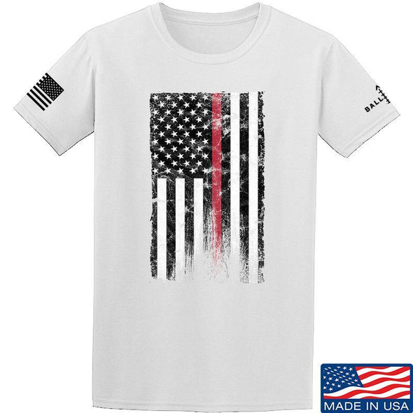 IV8888 Thin Red Line T-Shirt T-Shirts Small / White by Ballistic Ink - Made in America USA