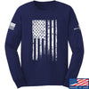 IV8888 Distressed White Flag Long Sleeve T-Shirt Long Sleeve Small / Navy by Ballistic Ink - Made in America USA