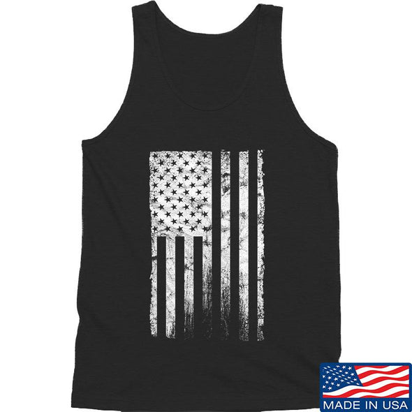 IV8888 Distressed White Flag Tank Tanks SMALL / Black by Ballistic Ink - Made in America USA