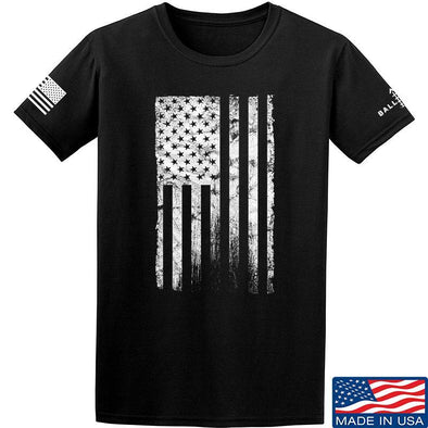 IV8888 Distressed White Flag T-Shirt T-Shirts Small / Black by Ballistic Ink - Made in America USA