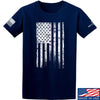 IV8888 Distressed White Flag T-Shirt T-Shirts Small / Navy by Ballistic Ink - Made in America USA