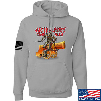IV8888 Artillery the Hun Hoodie Hoodies Small / Light Grey by Ballistic Ink - Made in America USA