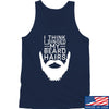 IV8888 I Think I Singed My Beard Hairs Tank Tanks SMALL / Navy by Ballistic Ink - Made in America USA
