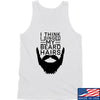 IV8888 I Think I Singed My Beard Hairs Tank Tanks SMALL / White by Ballistic Ink - Made in America USA